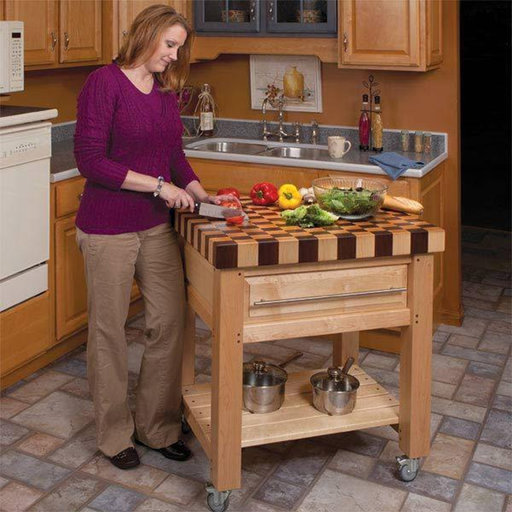 View a Larger Image of Butcher Block Cart - Paper Plan