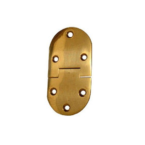 "Butler Tray Hinge, Round, 3"" Length x 1-1/2"" Width Hinge, Each, Requires No. 6 Screws Not Included"