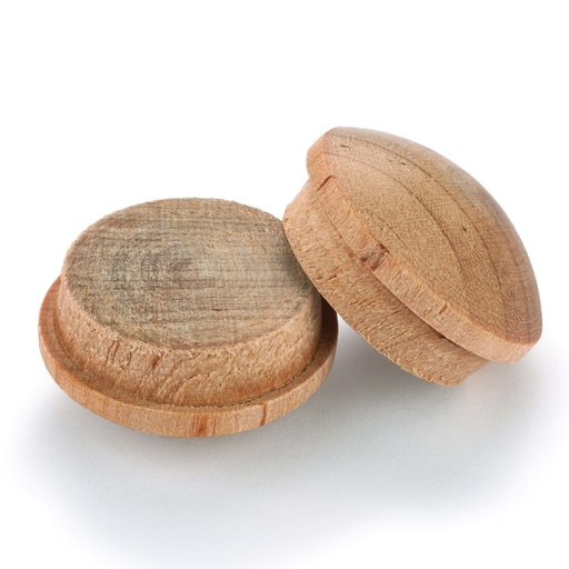 "View a Larger Image of Button Top Screw Hole Plugs 1"" Birch 5-piece"