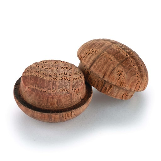 "View a Larger Image of Button Top Screw Hole Plugs 3/8"" Oak 12-piece"