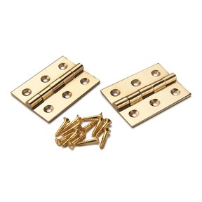"Cabinet Hinge Polished Brass 2"" x 1-1/2"" Pair"