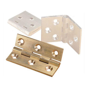 "Cabinet Hinge, Polished Brass 2"" x 2"", Pair"