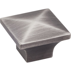 "Cairo Knob, 1-1/4"" O.L., Brushed Pewter"