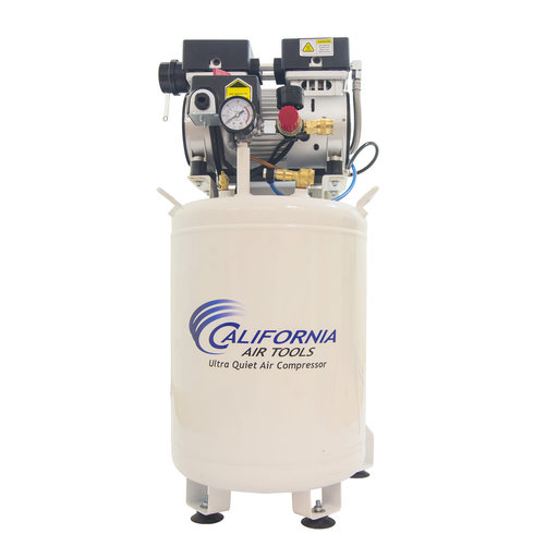 View a Larger Image of 1HP 10 Gallon Oil-Free Steel Tank Air Compressor with Air Drying System and Aftercooler