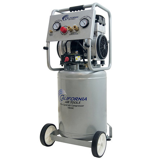 View a Larger Image of 10020CAD-22060 Ultra Quiet Oil-Free Air Compressor, 2 HP, 10 Gal., 220V with Auto Drain Valve