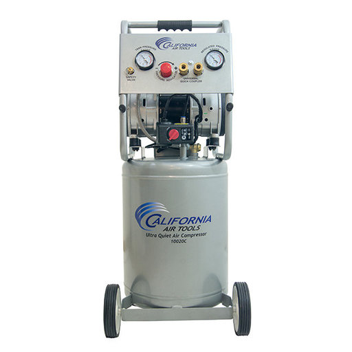 View a Larger Image of 2HP 10 Gallon Oil-Free Steel Tank Air Compressor with Auto Drain Valve