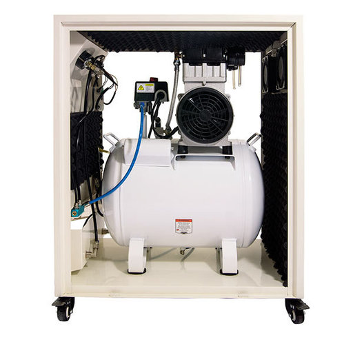 View a Larger Image of 10020SPC Ultra Quiet and Oil-Free 2 HP, 10 Gal. Steel Tank Air Compressor in Sound Proof Cabinet