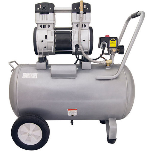 View a Larger Image of 2HP 15 Gallon Oil-Free Steel Tank Air Compressor