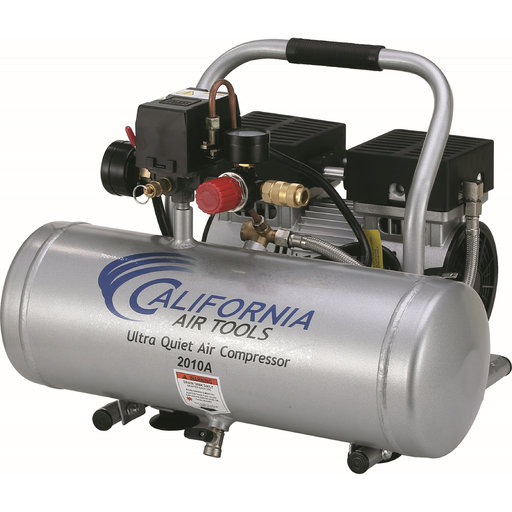View a Larger Image of 2010A Ultra Quiet and Oil-Free 1.0 HP, 2 Gal. Aluminum Tank Air Compressor