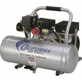 2010A Ultra Quiet and Oil-Free 1.0 HP, 2 Gal. Aluminum Tank Air Compressor