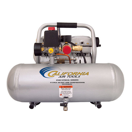 View a Larger Image of 1HP 2 Gallon Oil-Free Aluminum Tank Air Compressor