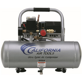 2050A Ultra Quiet and Oil-Free 1/2 HP, 2.0 Gal. Aluminum Tank Air Compressor