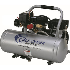2075A Ultra Quiet and Oil-Free 3/4 HP, 2.0 Gal. Aluminum Tank Air Compressor