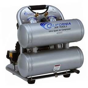 4620AC-22060 Ultra Quiet & Oil-Free 2.0 HP, 4.0 Gal. Aluminum Twin Tank Portable Air Compressor