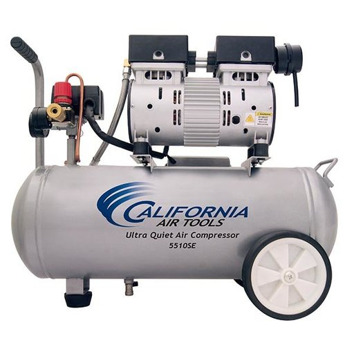 View a Larger Image of 5510 Ultra Quiet and Oil-Free 1 HP, 5.5 Gal. Steel Tank Air Compressor