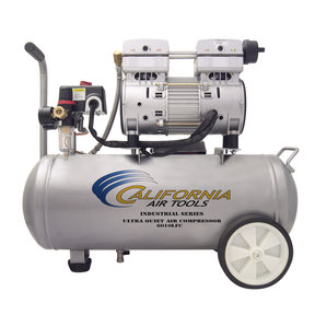 6010LFC Industrial Ultra Quiet and Oil-Free 1 HP, 6 Gal. Steel Tank Air Compressor