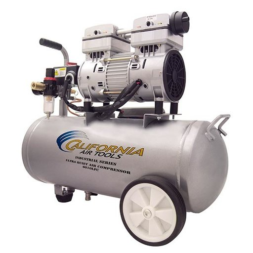 View a Larger Image of 6010LFC Industrial Ultra Quiet and Oil-Free 1 HP, 6 Gal. Steel Tank Air Compressor