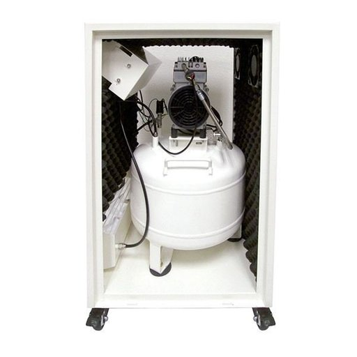 View a Larger Image of 8010SPC Ultra Quiet 8 Gal. Air Compressor in Sound Proof Cabinet
