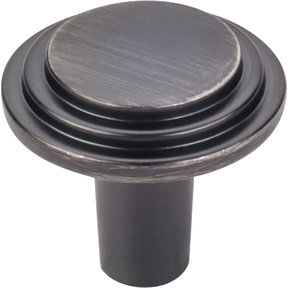 "Calloway Knob, 1-1/8"" Dia.,  Finnish -Brushed Pewter"
