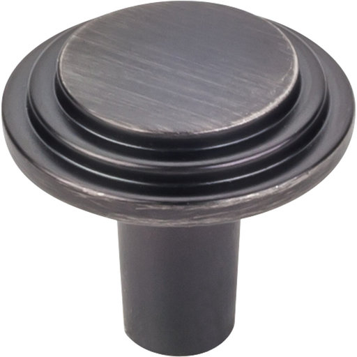 "View a Larger Image of Calloway Knob, 1-1/8"" Dia.,  Finnish -Brushed Pewter"