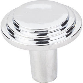 "Calloway Knob, 1-1/8"" Dia.,  Finnish -Polished Chrome"