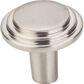 "Calloway Knob, 1-1/8"" Dia.,  Finnish -Satin Nickel"