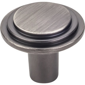 "Calloway Large Knob, 1-1/4"" Dia.,  Brushed Pewter"