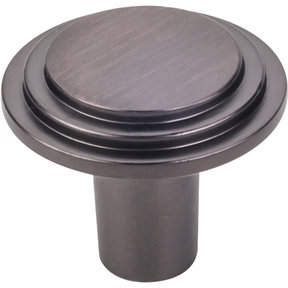 "Calloway Large Knob, 1-1/4"" Dia.,  Brushed Oil Rubbed Bronze"