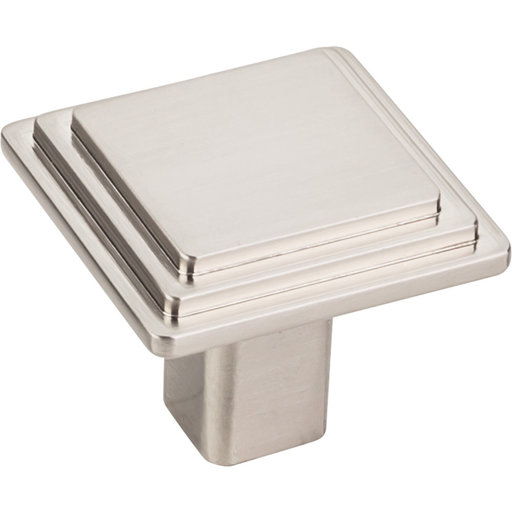 "View a Larger Image of Calloway Large Square Knob, 1-1/4"" O.L., Satin Nickel"