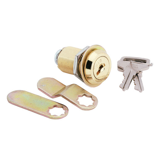 View a Larger Image of Cam Lock, Threaded Cylinder, Brass