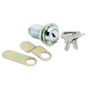 Cam Lock, Threaded Cylinder, Chrome