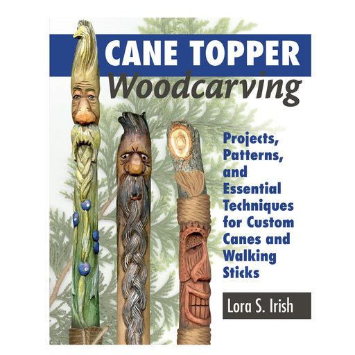 View a Larger Image of Cane Topper Wood Carving