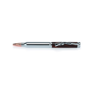 Cartridge Bullet Ballpoint Pen Kit - Chrome