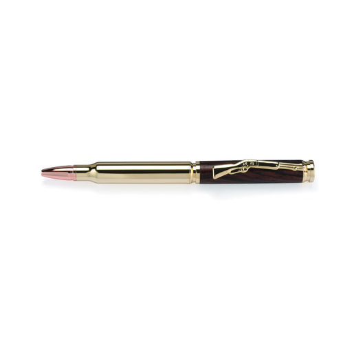 View a Larger Image of Cartridge Bullet Ballpoint Pen Kit - Woodcraft Gold