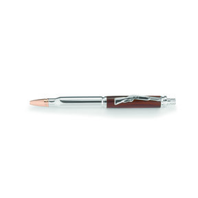 Cartridge Bullet Click Ballpoint Pen Kit - Chrome