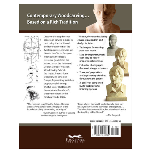 View a Larger Image of Carving the Head in the Classic European Tradition, Revised Edition