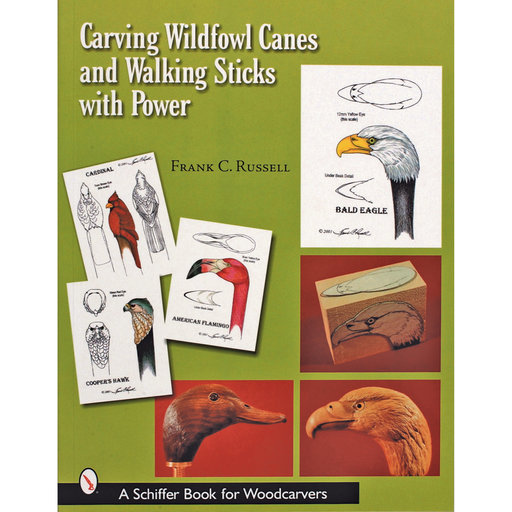 View a Larger Image of Carving Wildfowl Canes and Walking Sticks with Power