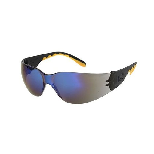View a Larger Image of Track Safety Glasses with Blue Lenses