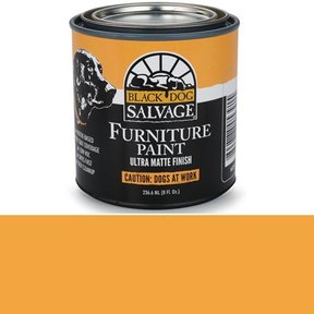'Caution: Dogs at Work' - Orange  Furniture Paint, 1/2 Pint 236.6ml (8 fl. Oz.)