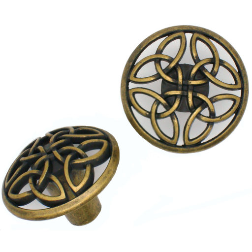 View a Larger Image of Celtic Knob,  Brass Oxide
