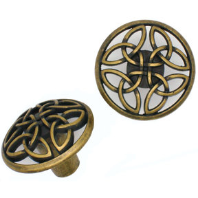 Celtic Knob,  Brass Oxide
