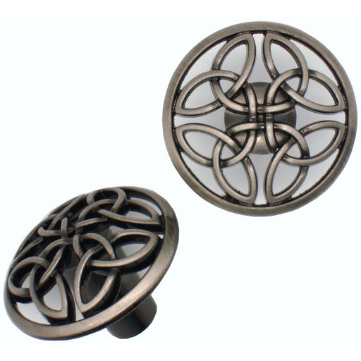 View a Larger Image of Celtic Knob,  Satin Nickel Oxide