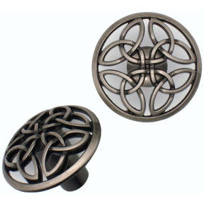 Celtic Knob,  Satin Nickel Oxide