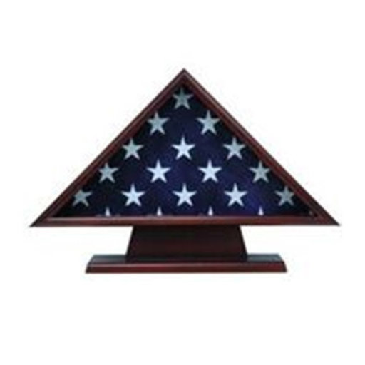 View a Larger Image of Ceremonial Flag Case, with Pedestal Cherry