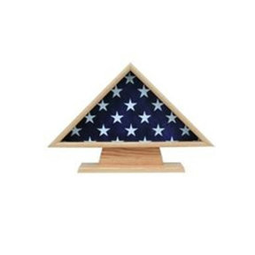 Ceremonial Flag Case, with Pedestal Oak