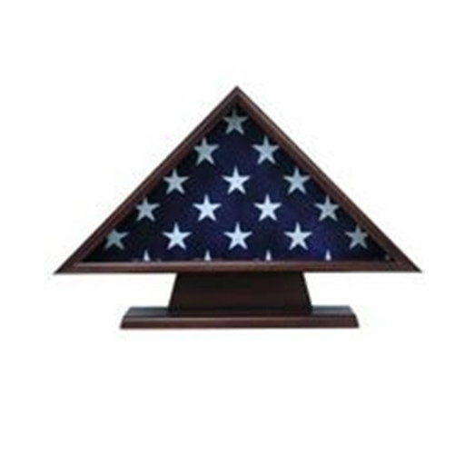 View a Larger Image of Ceremonial Flag Case, with Pedestal Walnut