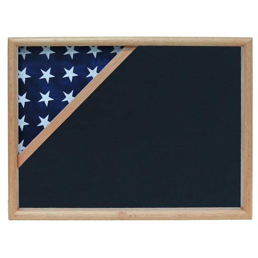 View a Larger Image of Ceremonial Flag Corner Case, Oak, Air Force Blue background