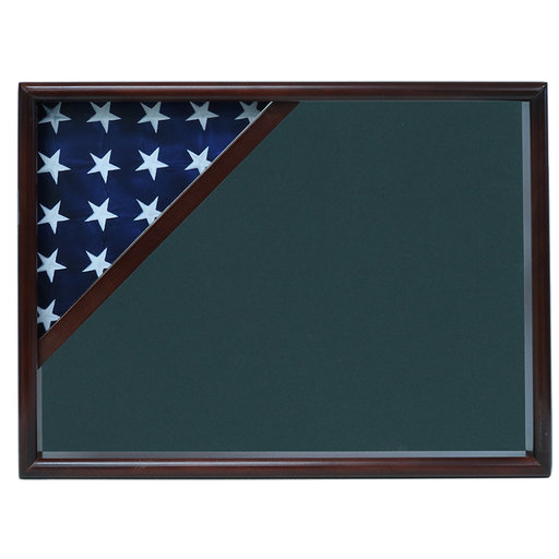 View a Larger Image of Ceremonial Flag Corner Case, Walnut, Army Green background