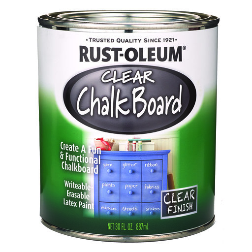 View a Larger Image of Chalk Board Paint Clear Quart