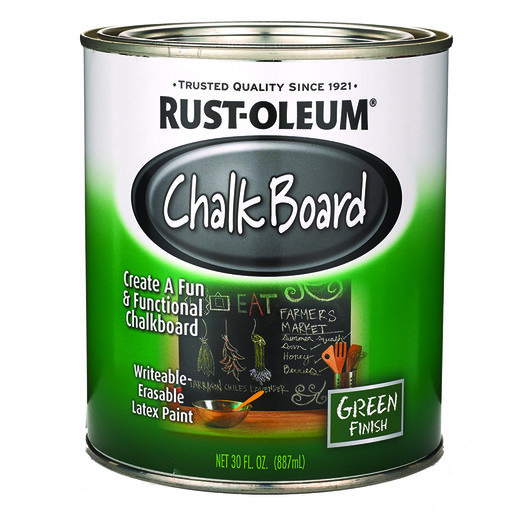 View a Larger Image of Chalk Board Paint Green Quart